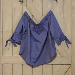 Deep Periwinkle Off The Shoulder Top